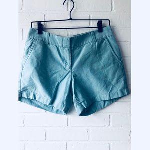 [J.Crew] Turquoise Chino Shorts 6